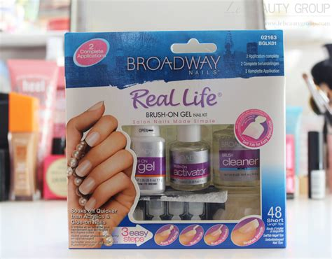 broadway nails broadway nails real brush on gel nail kit review and