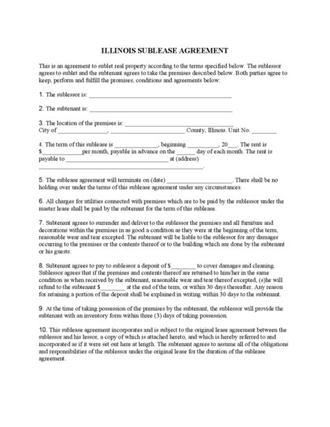 1 Year Rental Agreement Iowa Lease Agreement Template
