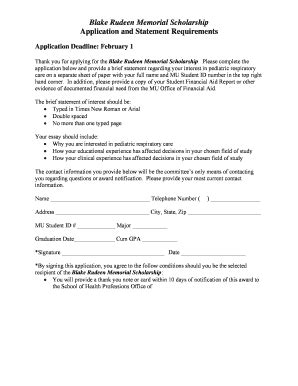 Sle Scholarship Thank You Letter Forms And Templates Fillable Printable Sles For Pdf Memorial Scholarship Application Template