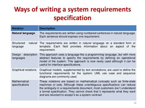 software requirement software requirement specification master template