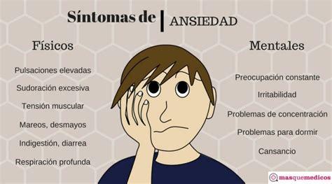 cuadros de ansiedad sintomas ansiedad y estr 233 s encuentra tu psic 243 logo en masquemedicos