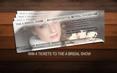 Win Wedding Money 2016 - win 4 tickets to the a bridal show enter online sweeps