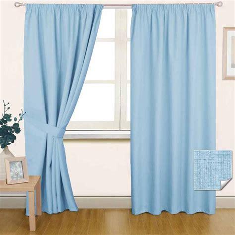 plain pencil pleat curtains thermal blackout lined plain blue pencil pleat curtains