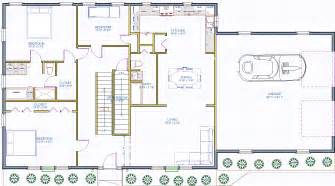 Cape Cod Floor Plan by The New Yorker Cape House Plan