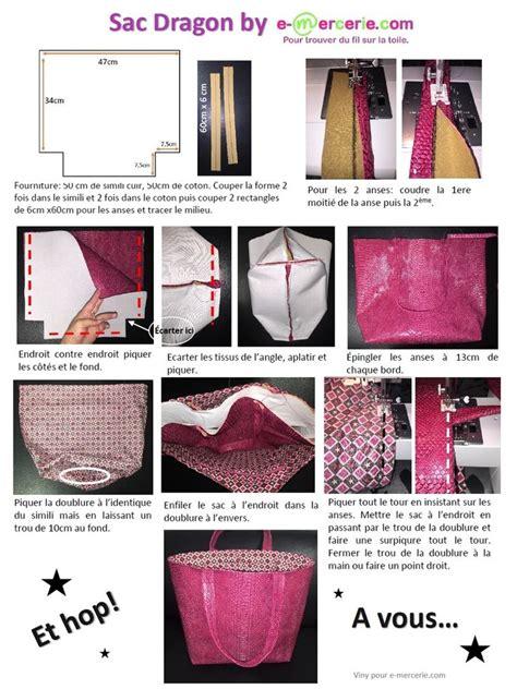 Faire Un Sac En Couture by Comment Faire Un Sac Cabas En Couture