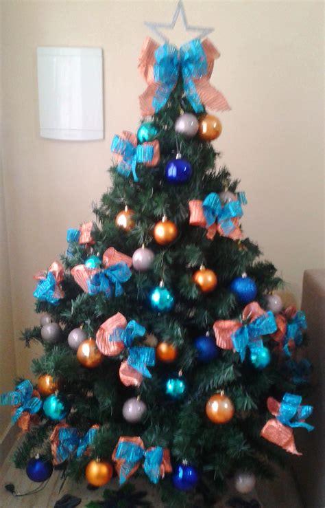 decoração de arvore de natal azul e dourado 201 natal ou quase l 225 decora 231 227 o da 193 rvore moda de casa