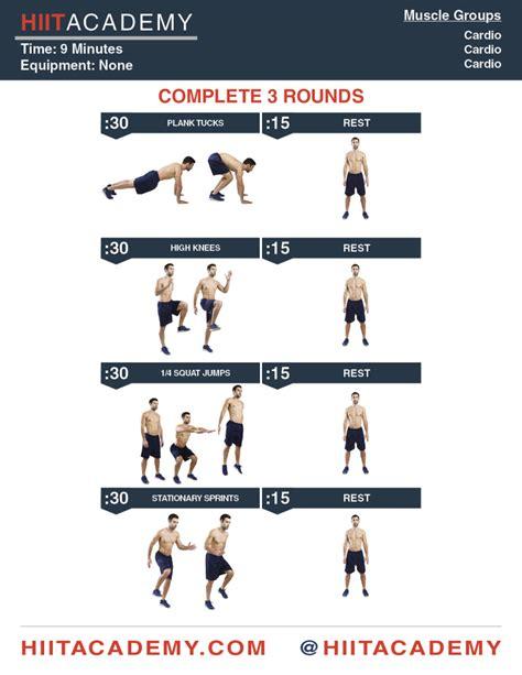complete cardio hiit workout hiit academy hiit