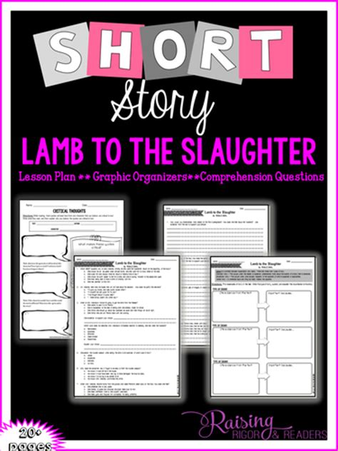 printable version of lamb to the slaughter raising rigor and readers teaching resources tes