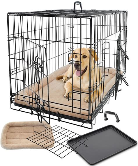dog crate bed pet dog cat cage crate kennel and bed cushion warm soft