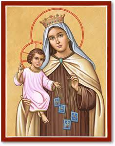 blessed virgin mary icons our lady of mt carmel icon monastery icons