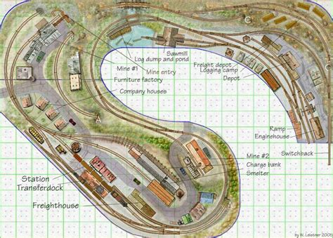 ho railroad layout design ho logging track plans click on the pics to get a larger