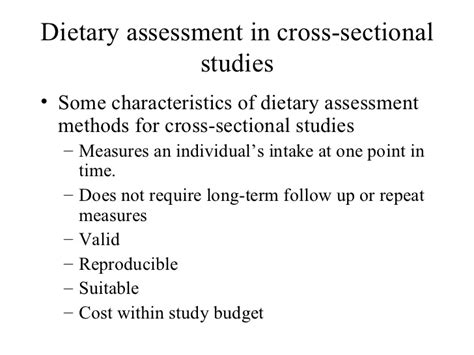 characteristics of cross sectional study cross sectional study overview