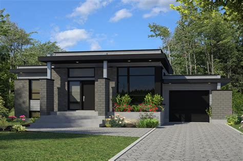 theplancollection com modern house plans contemporary house plan 158 1263 3 bedrm 1268 sq ft