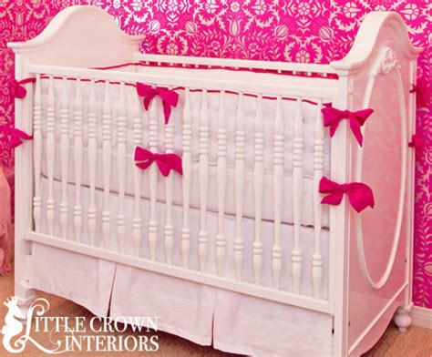 hot pink baby bedding white and hot pink crib bedding baby bedding orange county by little crown interiors