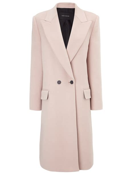 light pink pea coat light pink coat sm coats