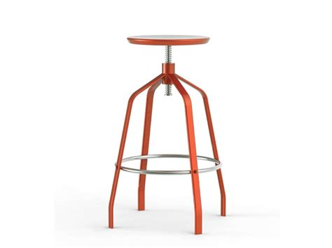 minimalist bar stools minimalist adjustable height bar stool vito by
