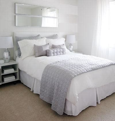 The All White Bed Style White And Lavender Bedding Contemporary Bedroom