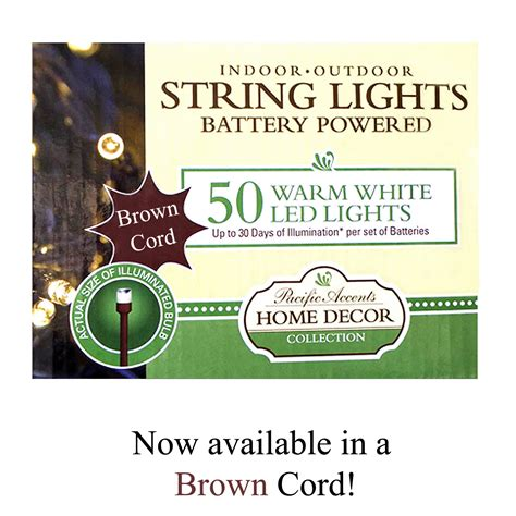 battery operated lights for outdoor use wholesale battery operated brown string lights 50 led
