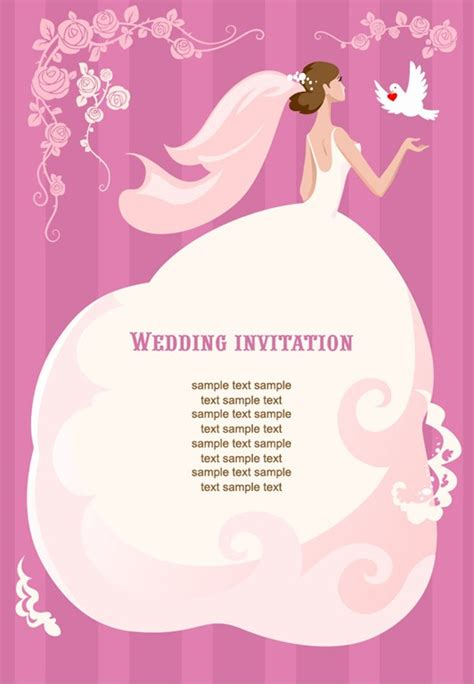 wedding invitation graphic design vector wedding invitation vector illustration free vector graphics all free web resources for