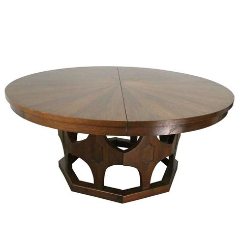 round expanding dining table 1960s mid century expandable round walnut dining table at