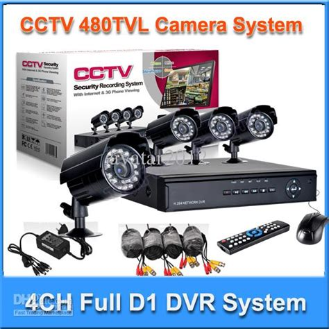 home 4ch h 264 d1 cctv dvr security bullet