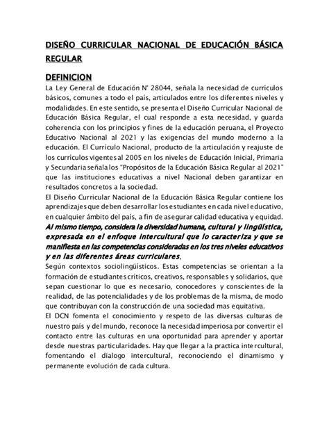 Diseño Curricular Nacional Definicion Diapositivas De Dise 209 O Curricular