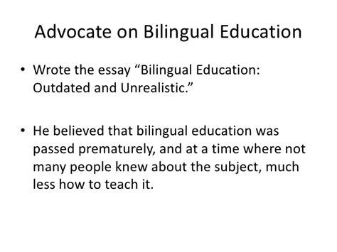 thesis about bilingual education argumentative essay on bilingual education