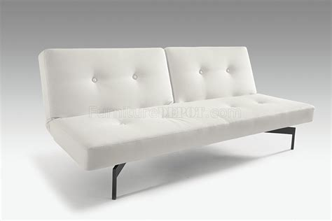 white leather convertible sofa bed white convertible sofa innovation living cubed deluxe