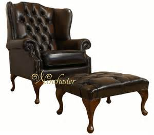 Winged Armchair Chesterfield Offer Mallory High Back Wing Chair Footstool