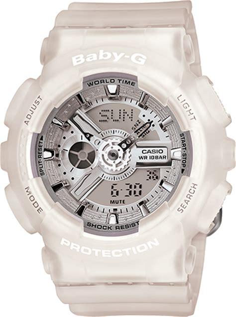 Casio Baby G Ba 110 Black White ba110 7a2 baby g white womens watches casio baby g