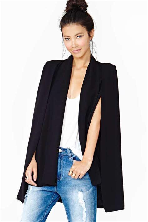 19664 Black Cape Blazer Coat 24 best cape blazer images on