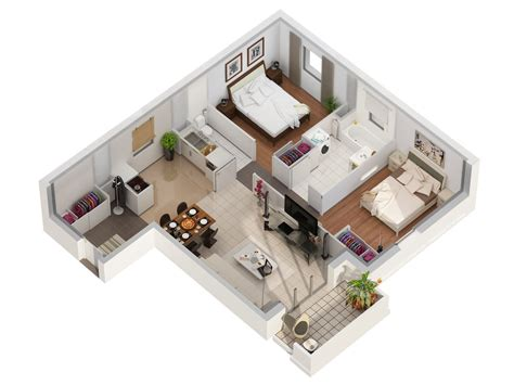 Floor Plan Autodesk by Plans 3d De T2 Et T3 Studio Multim 233 Dia 3d At Home