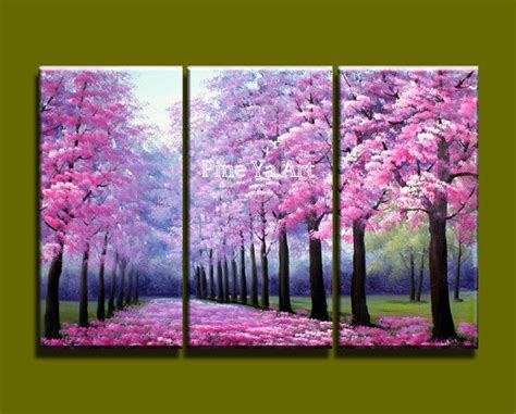 London Home Decor Stores 3 piece modern canvas wall art triptych acrylic pink
