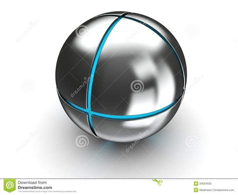 ball with light inside sphere with blue light stock photo image 34054550