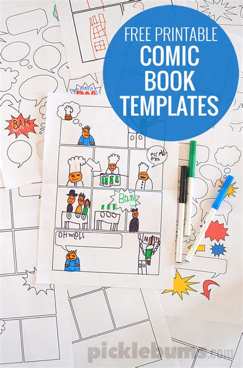printable comic book templates hello wonderful free printable comic book templates