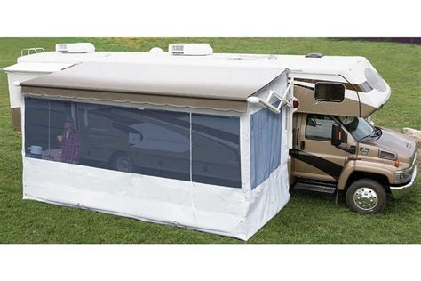 rv awning screen room carefree 19 complete flat pitch add a room awning screen motor home