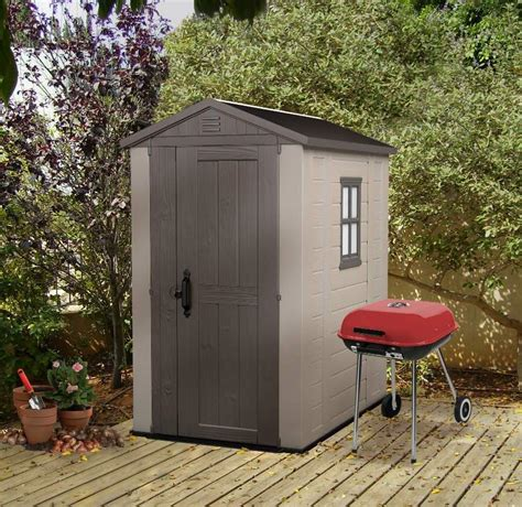 Narrow Garden Sheds Plastic Shed For Narrow Spaces New From Keter Landera
