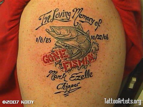gone fishing tattoo fishing memorial tattoos