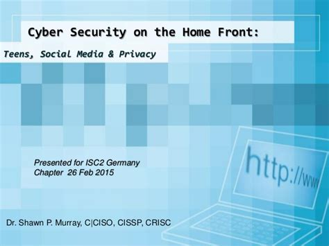 cyber security on the home front social media
