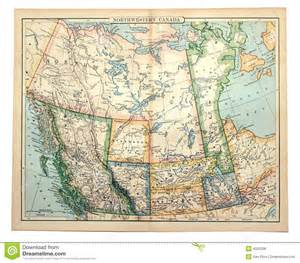 vintage map of canada map of western canada royalty free stock photos