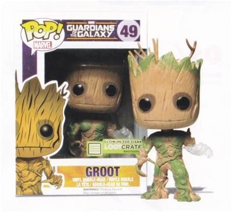 Funko Pop Marvel Guardians Of The Galaxy Groot Ravagers glow in the groot funko pop guardians of the galaxy loot crate guardians of ga hoole