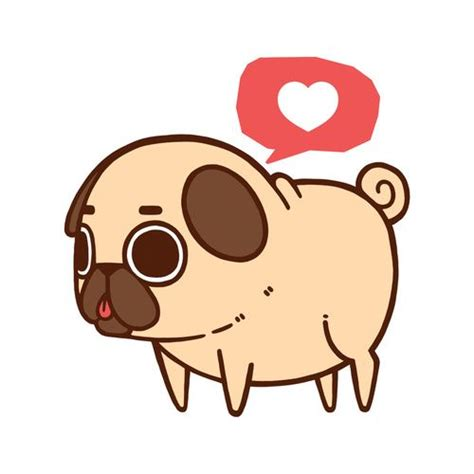chibi pug pug and pug on