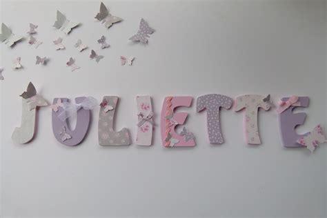 Lettre Decorative Pour Chambre Bébé lettres prenom bois juliette imprime tilda sur commande