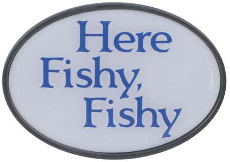 here fishy here fishy fishy 2 quot trailer hitch receiver cover knockout