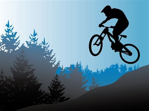 Free Website Templates Home Design by Free Vector Mountain Bike Illustration Titanui