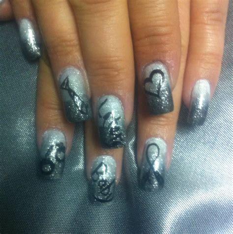 fifty shades of grey nails easy nail art tutorial 50 shades of fifty shades of grey nails nail art pinterest