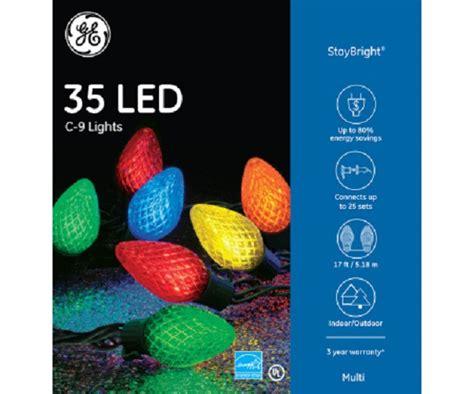 ge led c9 lights tis your season ge c9 led multi color 35 light set