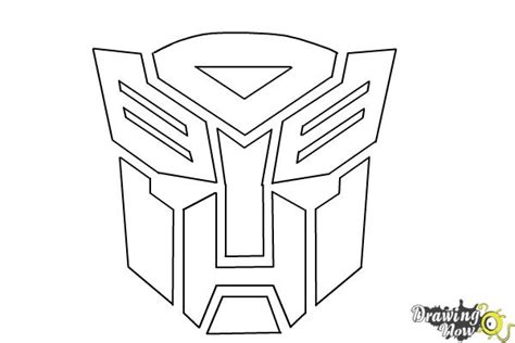 How To Draw Autobots how to draw autobot logo from transformers drawingnow