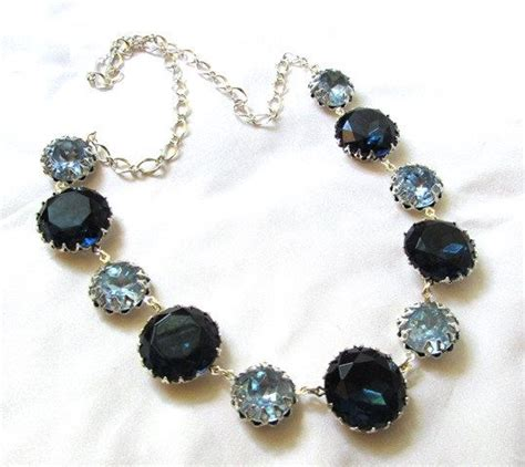 light blue statement necklace statement necklace anna wintour style sapphire blues