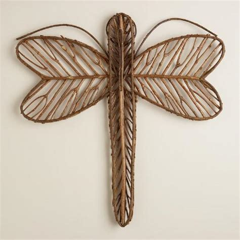 twig wall decor dragonfly twig wall decor world market